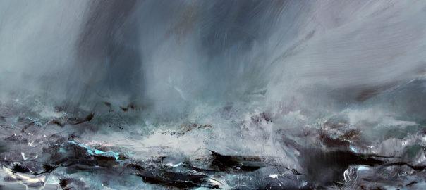 Gyndagooster, oil on canvas. Vagues scélérates Jeannette Kerr